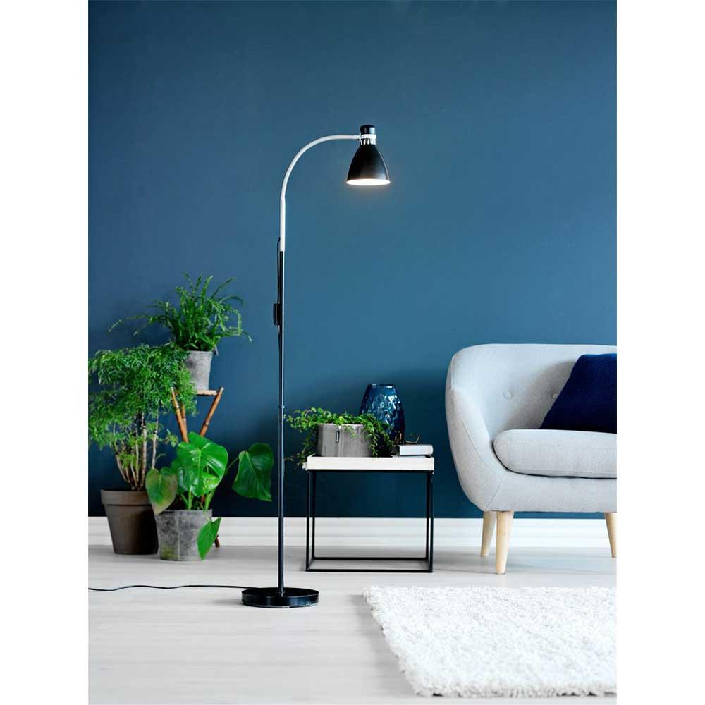 Đèn cây JYSK Hanson kim loại/nhựa đen DK22xH145cm