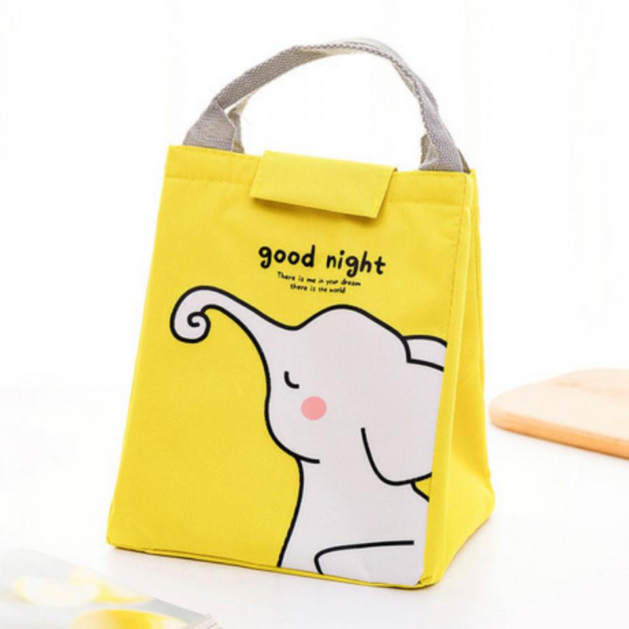 Túi đựng cơm, túi giữ nhiệt Good Night size 20x16x24(cm) + tặng kèm 01 sổ tay
