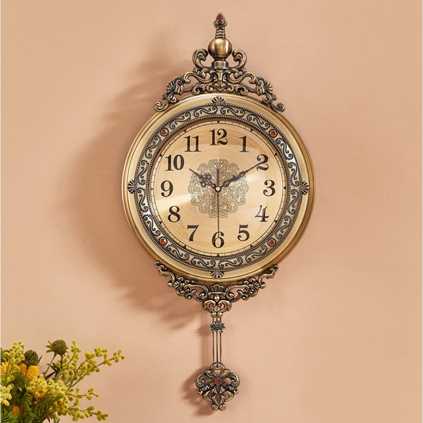 Đồng hồ treo tường quả lắc phong cách cổ điển châu Âu DH20
