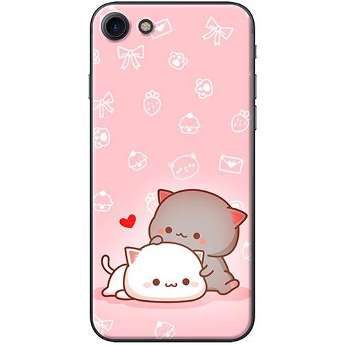 Ốp Lưng Hình Mèo Mập Nền Hồng Dành Cho iPhone 7  8