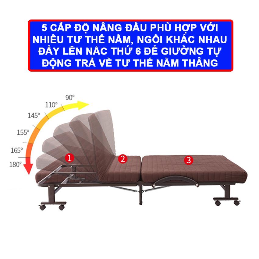 Giường gấp kiểu dáng hàn quốc Nikita NKT-HQ90
