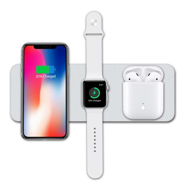 Đế sạc 3 In 1  Charger  for  smart phone&Apple  watch &Earphone V3- Hàng chính hãng