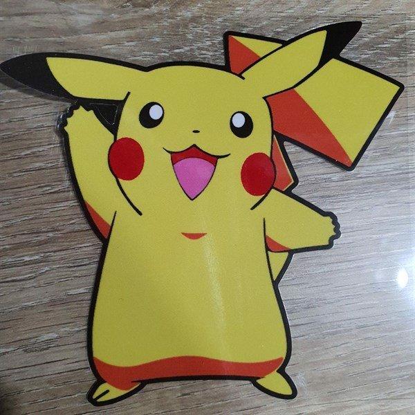 Pikachu vàng - Sticker transfer hình dán trang trí Xe hơi Ô tô size 11x10cmc