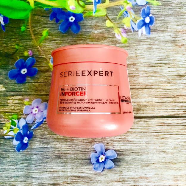 Dầu hấp ủ tóc L'oreal Serie Expert B6 + Biotin Inforcer Strengthening Anti-breakage Masque chắc khỏe ngăn gãy rụng 250ml
