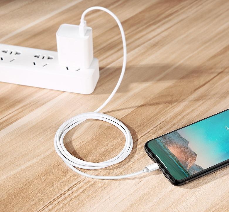 Dây Cáp Sạc Lightning V2 Bọc TPE Cao Cấp Sạc Nhanh Bền Bỉ Cho Iphone Ipad- Hàng Nhập Khẩu