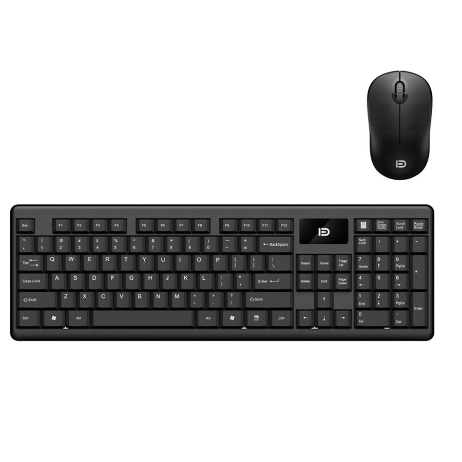 Bộ bàn phím và chuột game FD1600 không dây, siêu mỏng, chống nước cực tốt