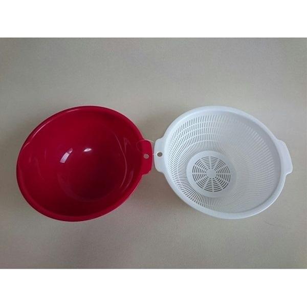 Rổ nhựa tròn cao cấp 2 lớp 1.5L đa năng - Nội địa Nhật Bản