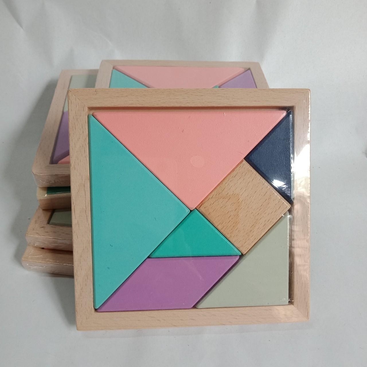 Đồ chơi gỗ, Ghép Hình Thông Minh 7 Chi Tiết Gỗ tự nhiên Ghép nhiều hình phát huy khả năng sáng tạo cho bé - 410