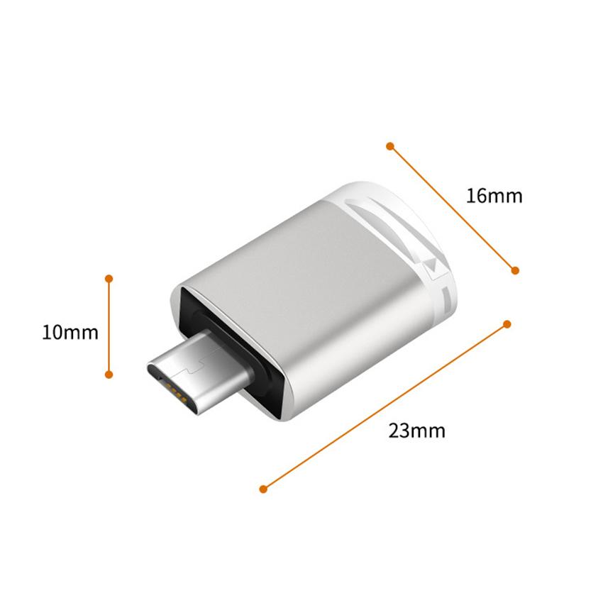 Đầu đọc thẻ nhớ micro SD dành cho điện thoại, thiết bị sử dụng cổng micro USB, đầu đọc thẻ nhớ điện thoại Android, chất liệu kim loại sang trọng