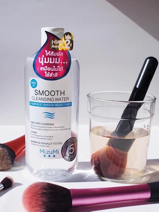 Nước Tẩy Trang MizuMi Smooth Cleansing Water 5 Free Giảm Sức Căng Bề Mặt 500ml