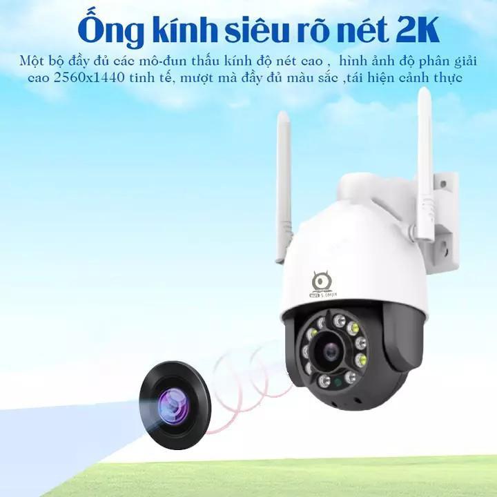 Camera Wifi - Camera V380Pro C12 5.0Mpx 2536×1440P -  Xoay 360° Chính Hãng Nhận Diện Khuôn Mặt, Zoom X5,Xem Đêm Có Màu