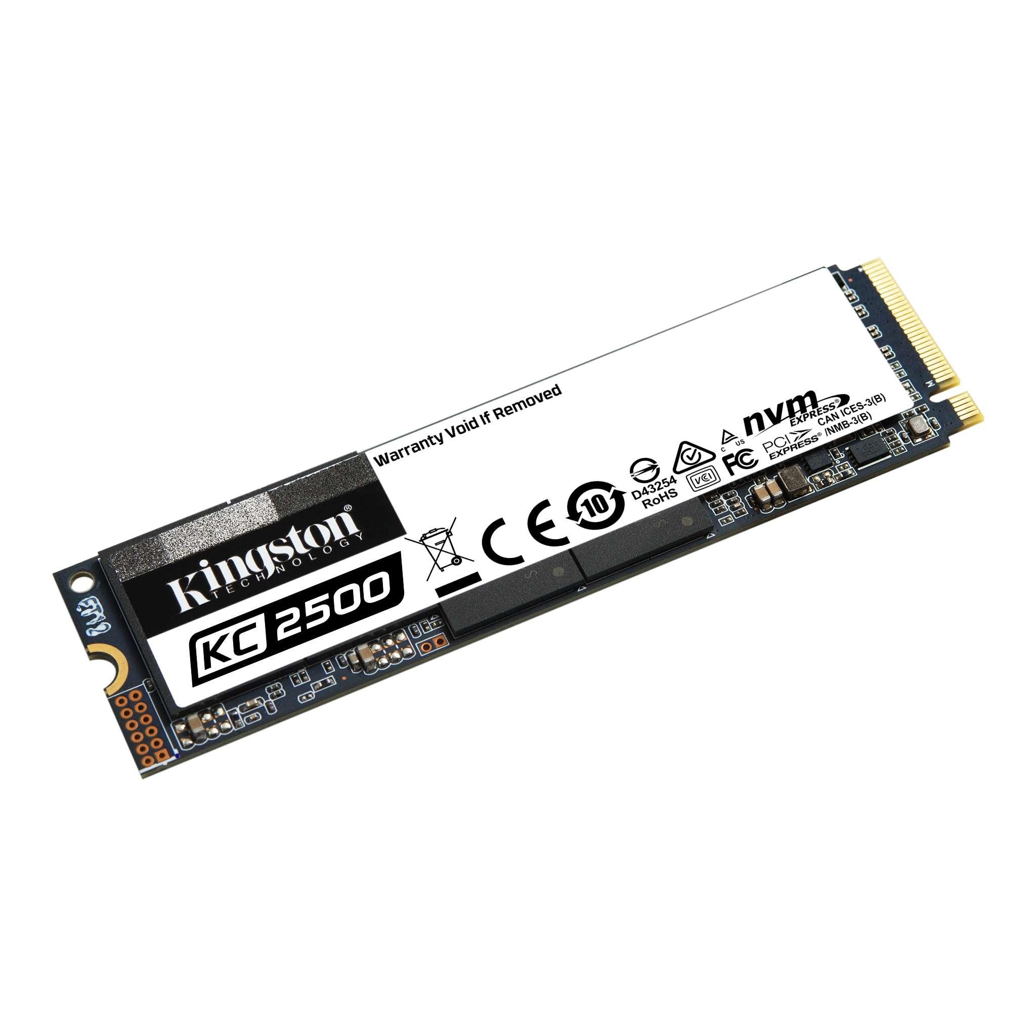 Ổ cứng SSD Kingston KC2500 M.2 PCIe Gen3 x4 NVMe 1000GB SKC2500M8/1000G - Hàng Chính Hãng