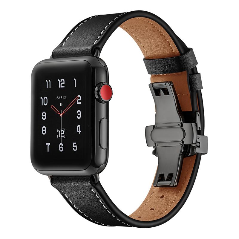 Dây Da Italia Khóa Đen Chống Gãy dành cho Apple Watch 42/44mm