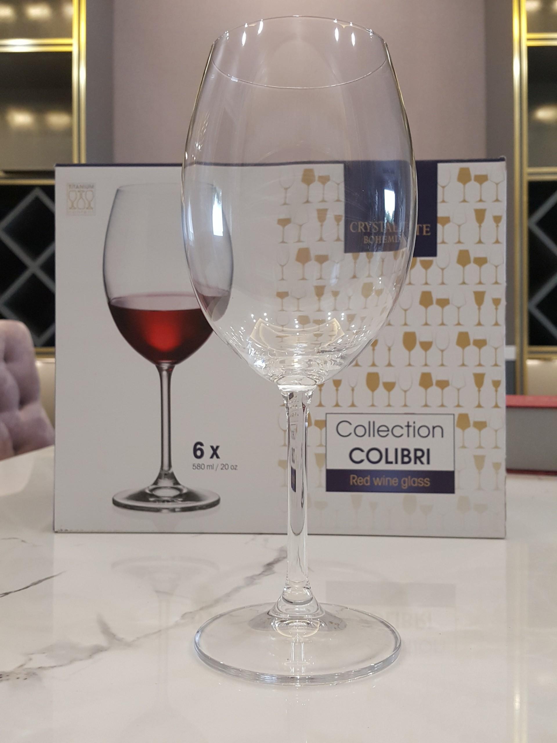 Bộ 6 Ly Rượu Vang Crystalite Bohemia Colibri 580ml