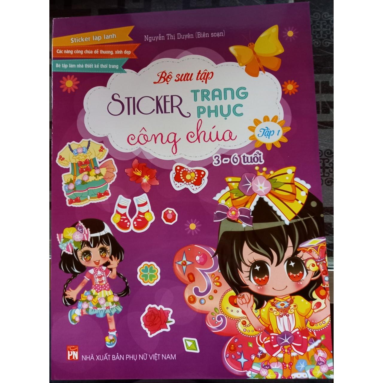Bộ sưu tập sticker trang phục công chúa  - tập 1