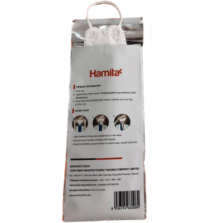 Khẩu trang cao cấp 4D Hamita 4 lớp dành cho Trẻ Em _ ISO13485, CE, FDA - Có thể giặt để tái sử dụng