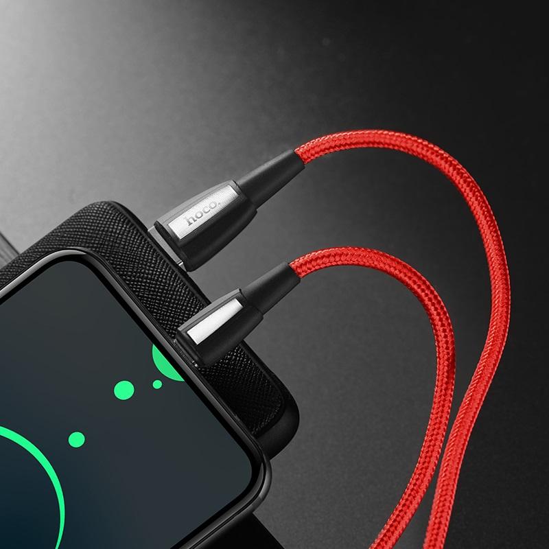Cáp sạc nhanh chuẩn Type C Hoco, sạc nhanh 3A Max, cáp bọc dù dành cho Samsung Galaxy Note 9, Note10, S9, S10, S10+, X39 - Hàng chính hãng