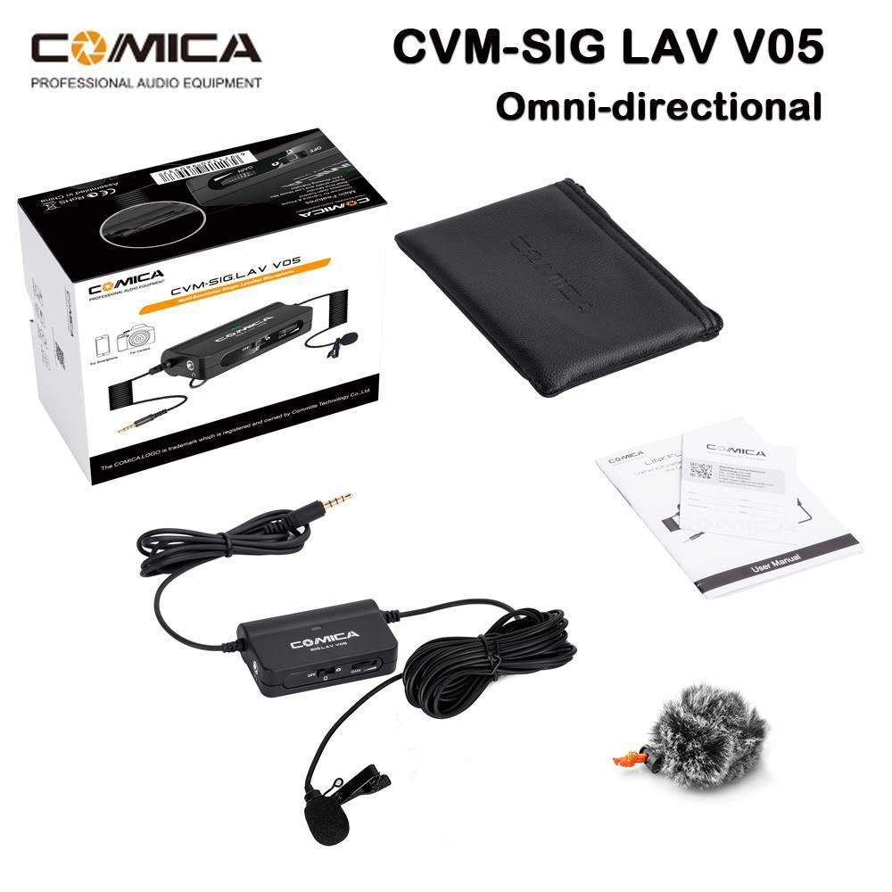 Micro gài áo cho điện thoại Comica CVM-SIG.LAV V05 - Hàng chính hãng