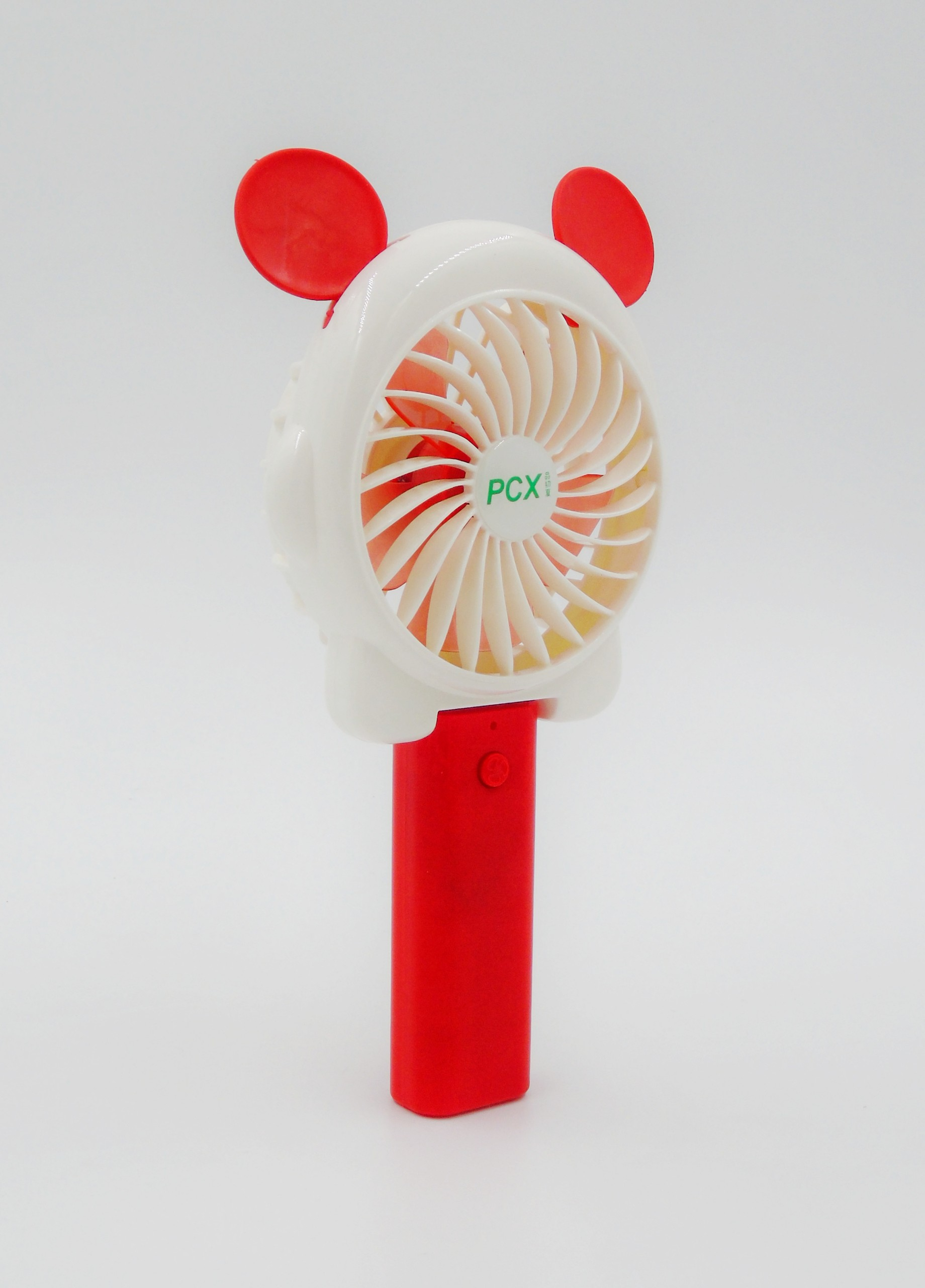 Quạt Mini Cầm Tay Pin Sạc Tai Gấu