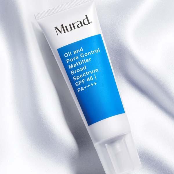 Kem chống nắng Murad Oil and Pore Control Mattifier SPF 45 | PA++++ 50ml TẶNG Srm AHA/BHA + Clarifying Cleanser 15ml