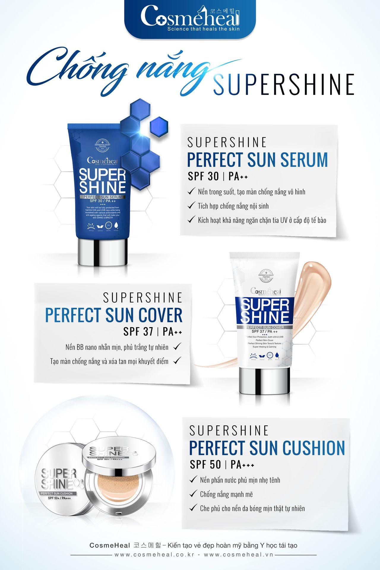 Phấn nước COSMEHEAL SUPER SHINE PERFECT SUN CUSHION