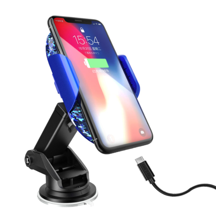 Gía đỡ điện thoại kiêm sạc không dây trên ô tô cao cấp Philips DLK9411N Cống suất 10W, khóa/ mở tự động, tự động điều chỉnh kích thước, tốc độ sạc nhanh chóng - hàng nhập khẩu