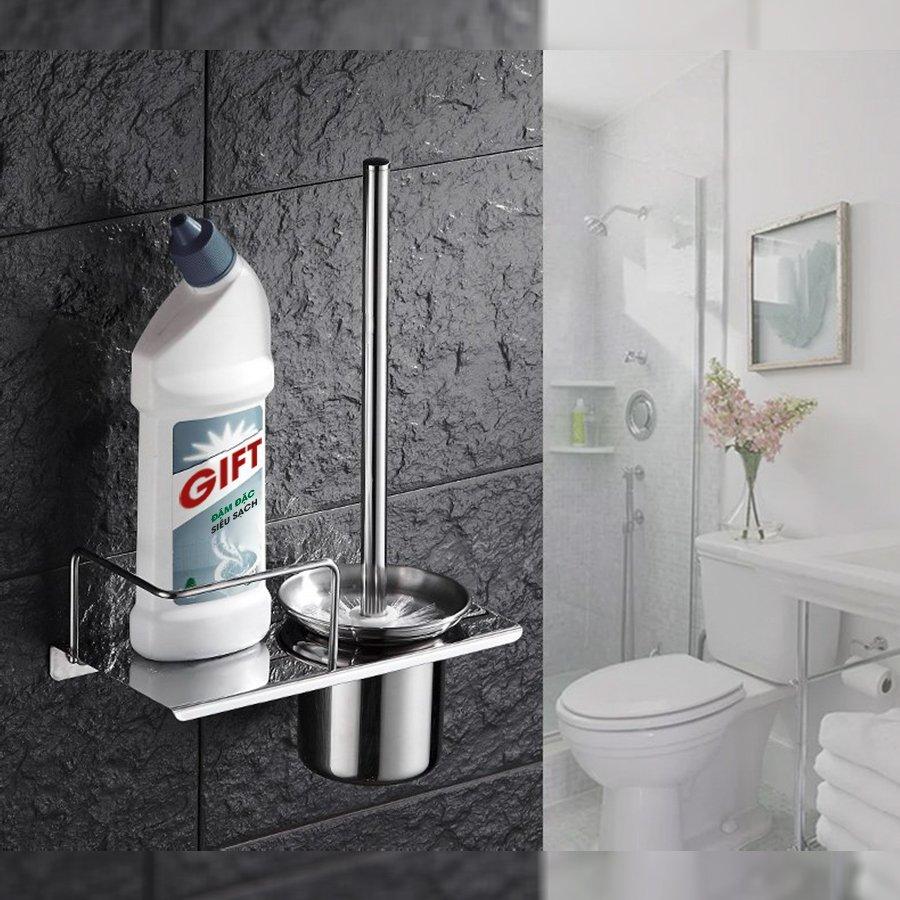 Kệ để chất tẩy rửa và cọ nhà tắm dán tường KNT01