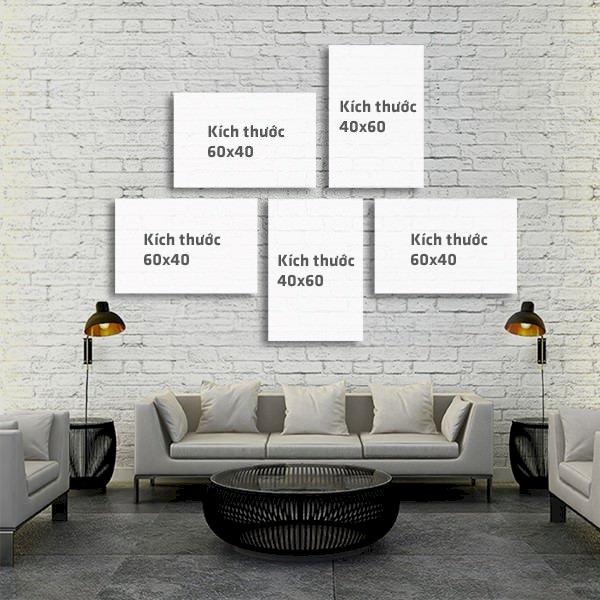 """Bộ 5 Tranh Trang Trí """"My Home"""" - W389"""