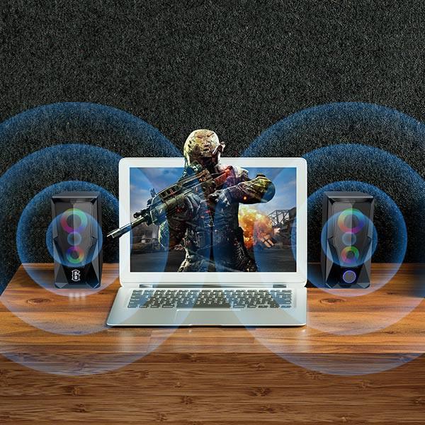 Loa Máy Tính ROBOT Cho Game Thủ Có Hiệu Ứng Đèn LED, Âm Thanh Cực Chuẩn, Chất Lượng Cao - Hàng Chính Hãng