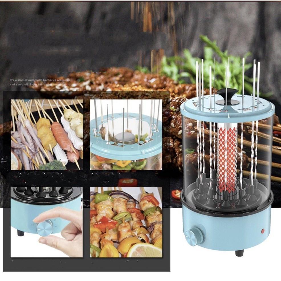 Bếp Nướng Điện Để Bàn Tự Động Xoay 360° BBQ on Table (Xanh da trời)