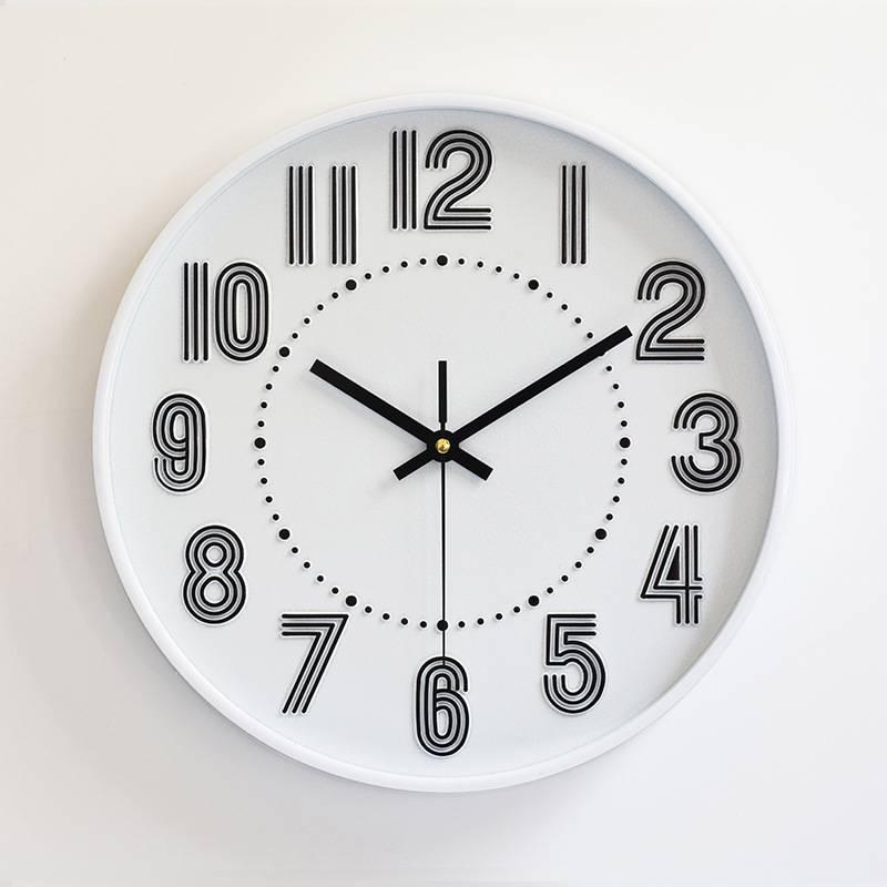 Đồng hồ treo tường tròn số 3 nét 30cm