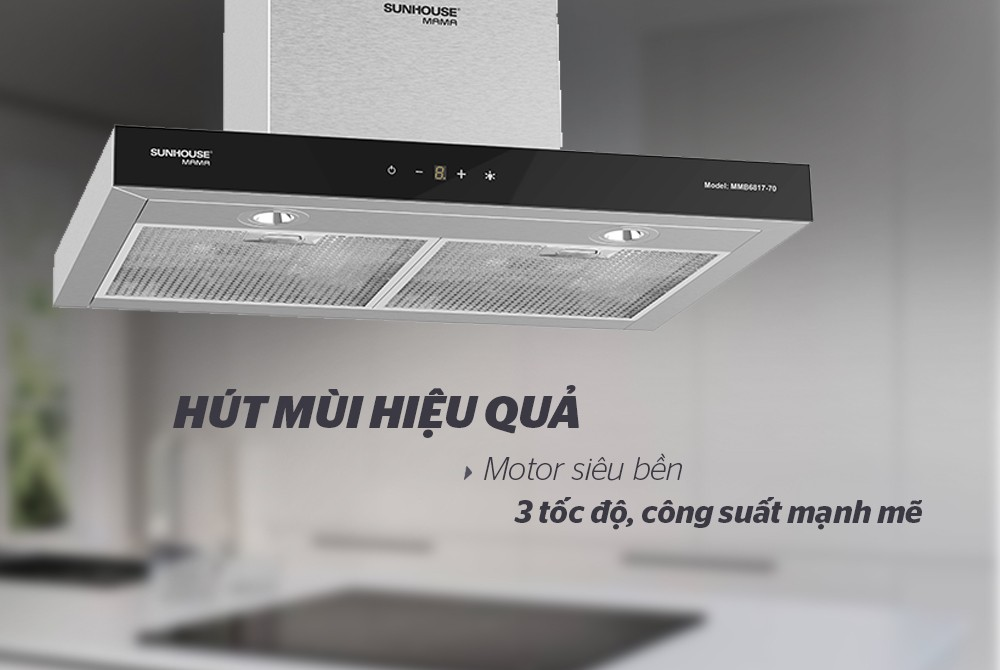 """Máy hút mùi cao cấp chữ """"T"""" Sunhouse Mama MMB6817-70 - Hàng Chính Hãng"""