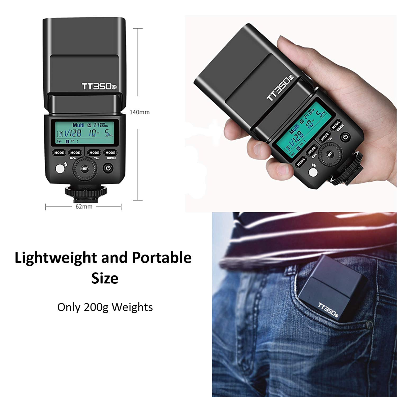 Đèn Flash Godox TT350SCho Sony - Kèm Pin Và Sạc - Hàng Nhập Khẩu