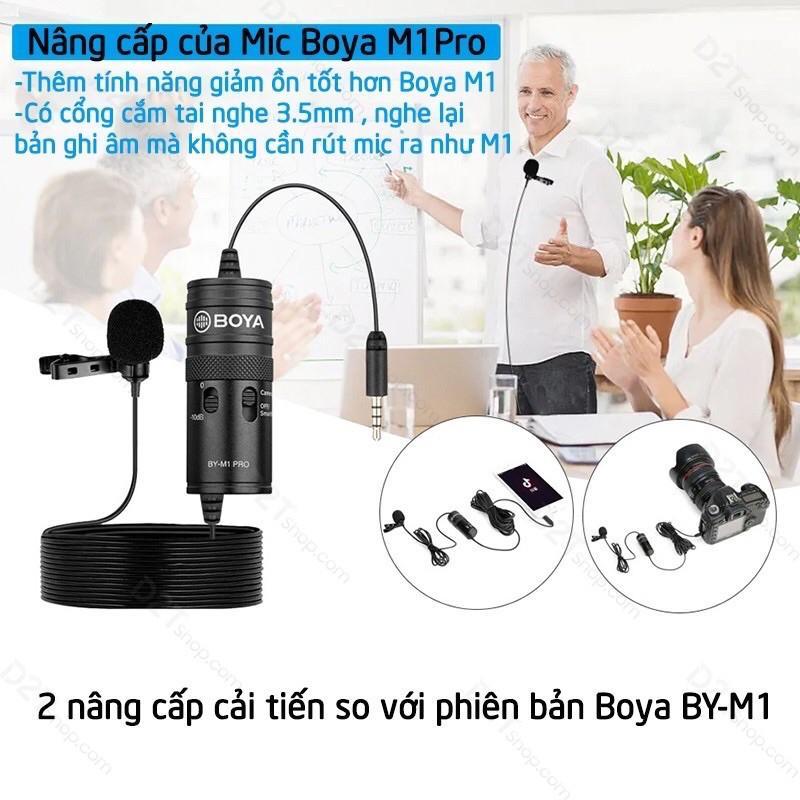Micro Ghi âm Cài áo Boya BY M1