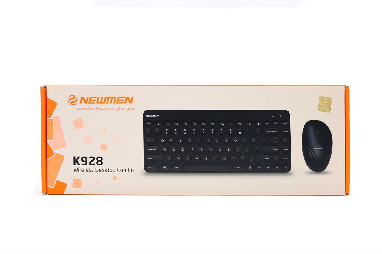 Combo phím và chuột không dây siêu đáng yêu NEWMEN K928 White _ Hàng chính hãng