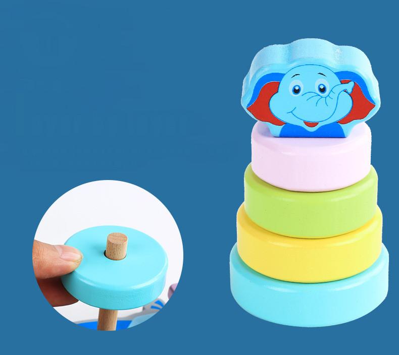 Bộ đồ chơi bằng gỗ  thả hình khối vào cột zíc zắc cho bé vui chơi, rèn luyện phản xạ và tư duy thông minh