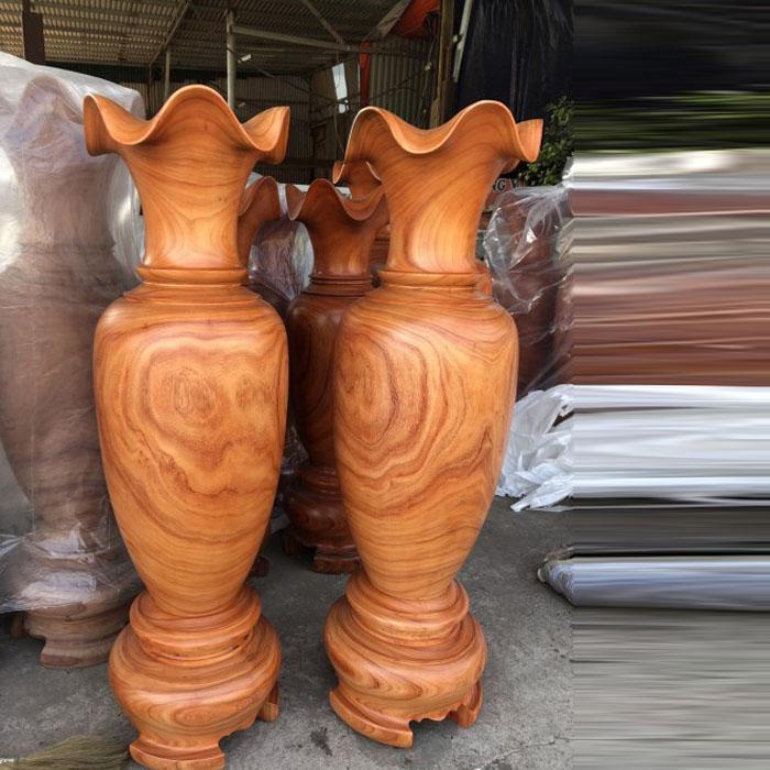 Lục bình trang trí, gỗ Hương 1m2