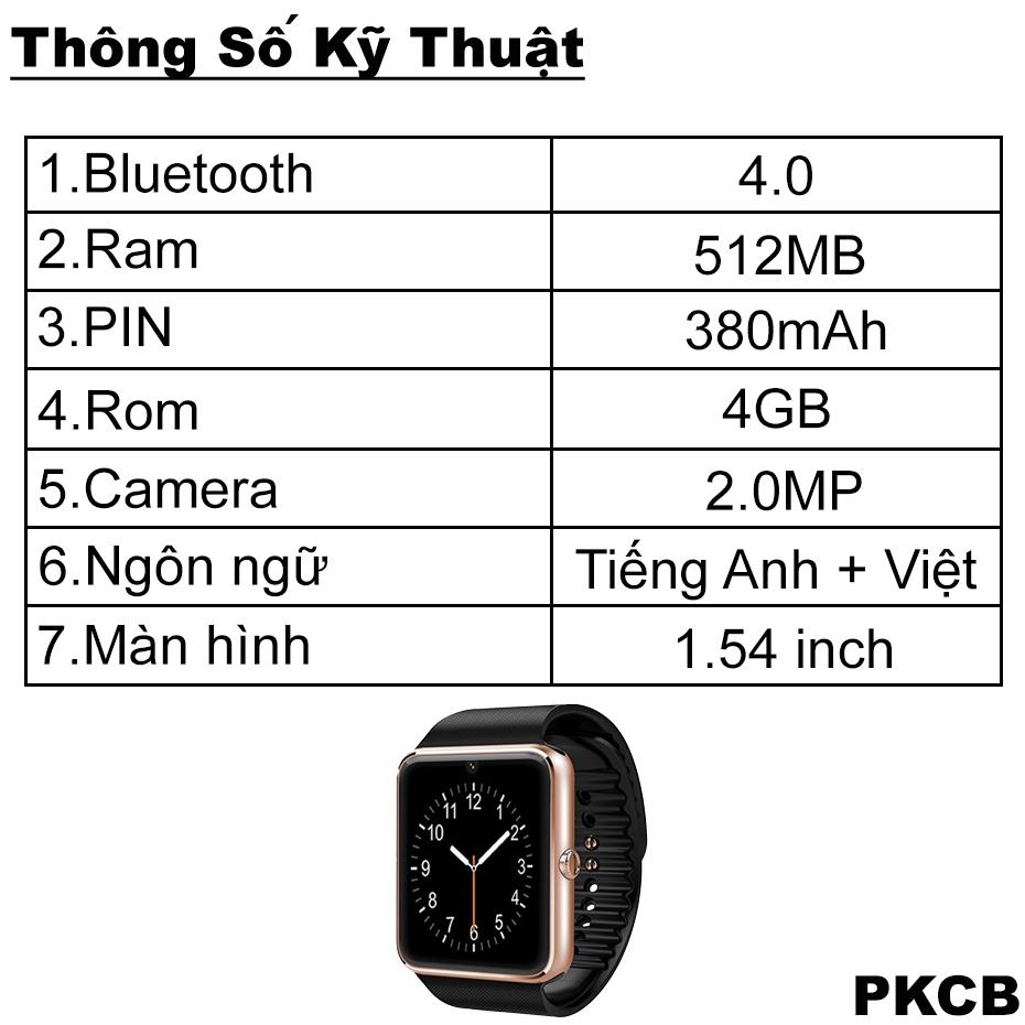 Đồng Hồ Thông Minh WiFi Smart Watch Cao cấp PKCB107 - Hàng Chính Hãng