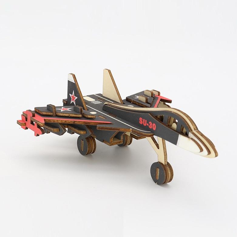 Đồ chơi lắp ráp gỗ 3D Bộ 9 Mô hình Máy bay Chiến đấu Laser