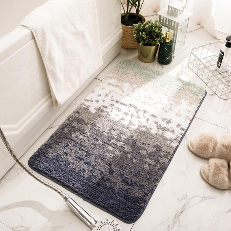 Thảm lau chân nhà tắm sợi cotton siêu thấm nước chống trơn trượt - Hàng nhập khẩu - 40cm x 60 cm - mẫu 3