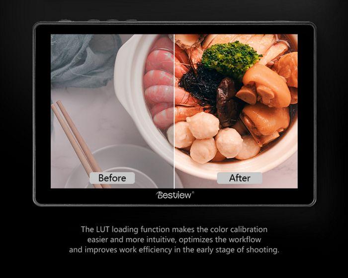 Màn hình Bestview R7 7inch 4K cảm ứng HDR 3D LUT hàng chính hãng.