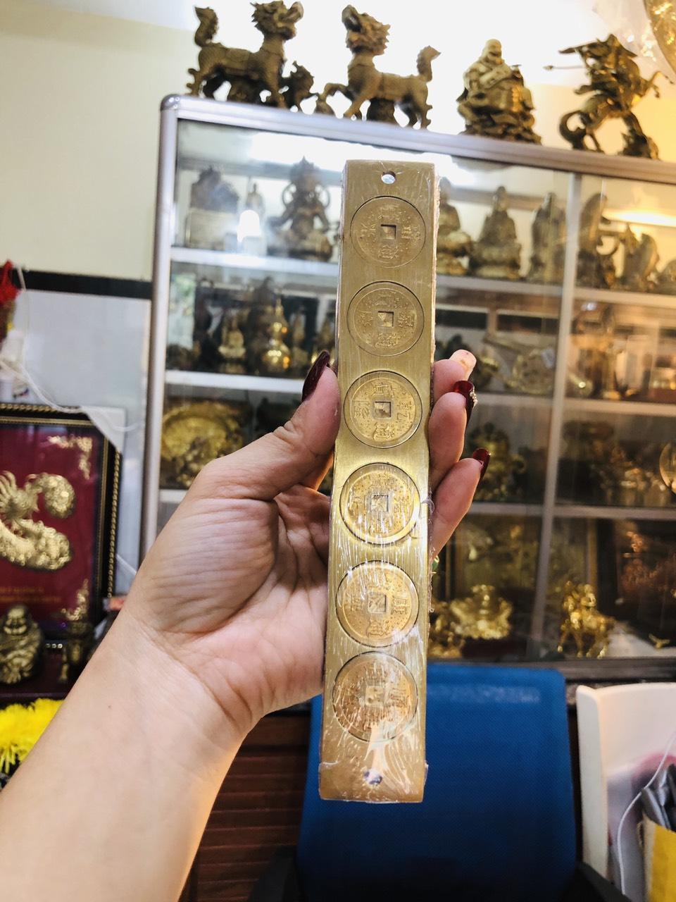 Thước lục đế bằng đồng chiêu tài lộc