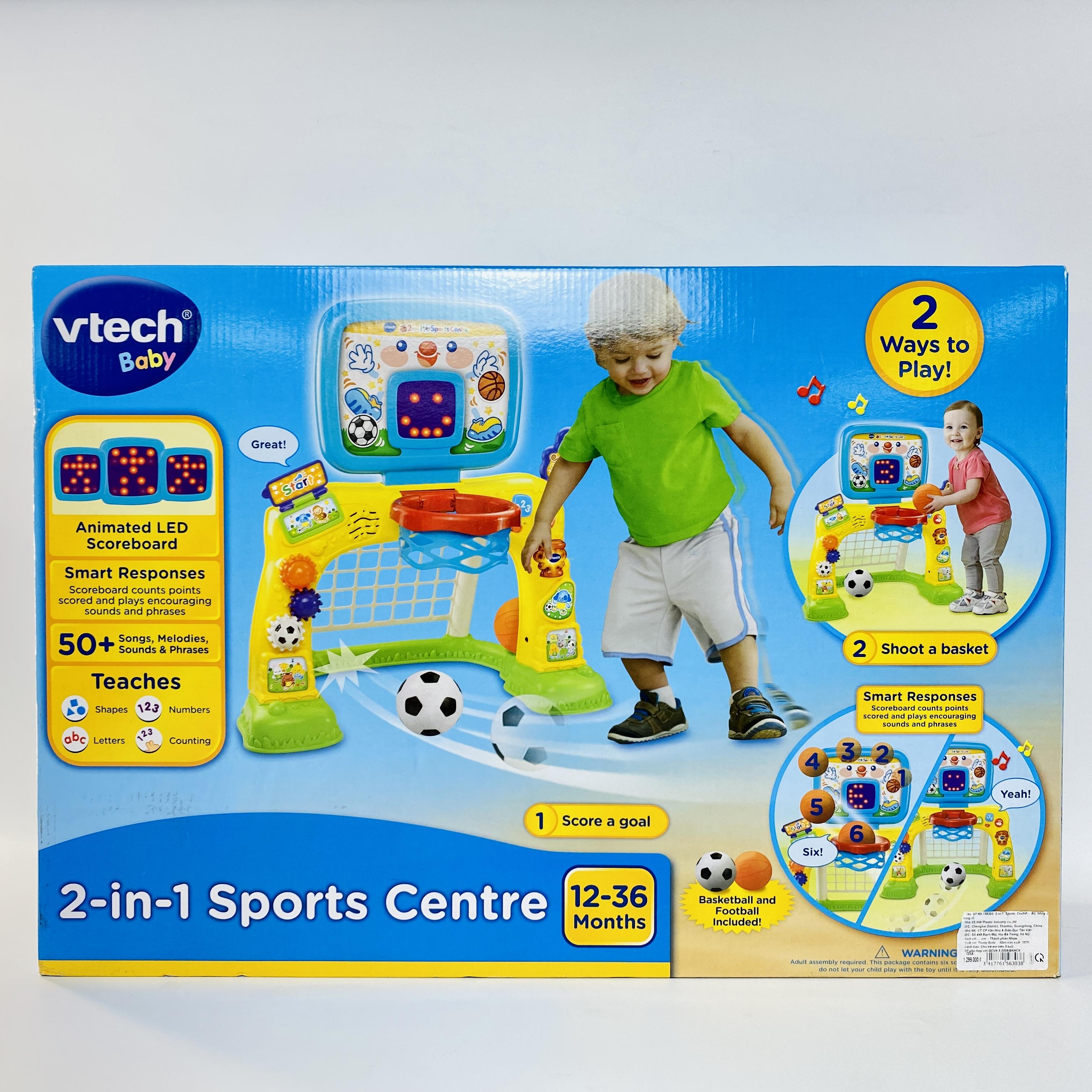 80-156303 2-in-1 Sports Centre - Bộ bóng đá, bóng rổ