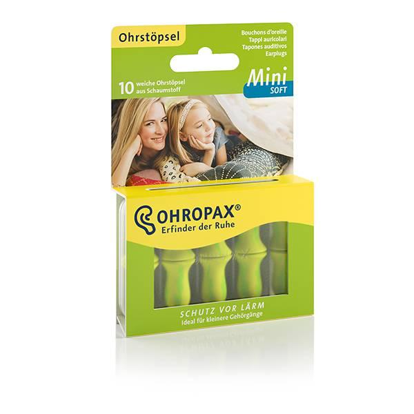 Hộp 10 nút bịt tai OHROPAX MINI SOFT (Siêu mềm mại - Dùng cho người tai nhỏ, và trẻ em)