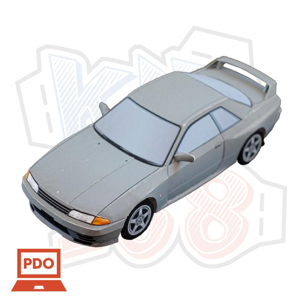 Mô hình giấy xe ô tô Nissan Skyline R32 GT-R