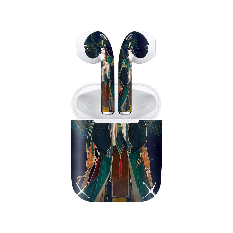 Miếng dán skin chống bẩn cho tai nghe AirPods in hình Sử thượng đệ nhất Phật tu - acp028 (bản không dây 1 và 2)