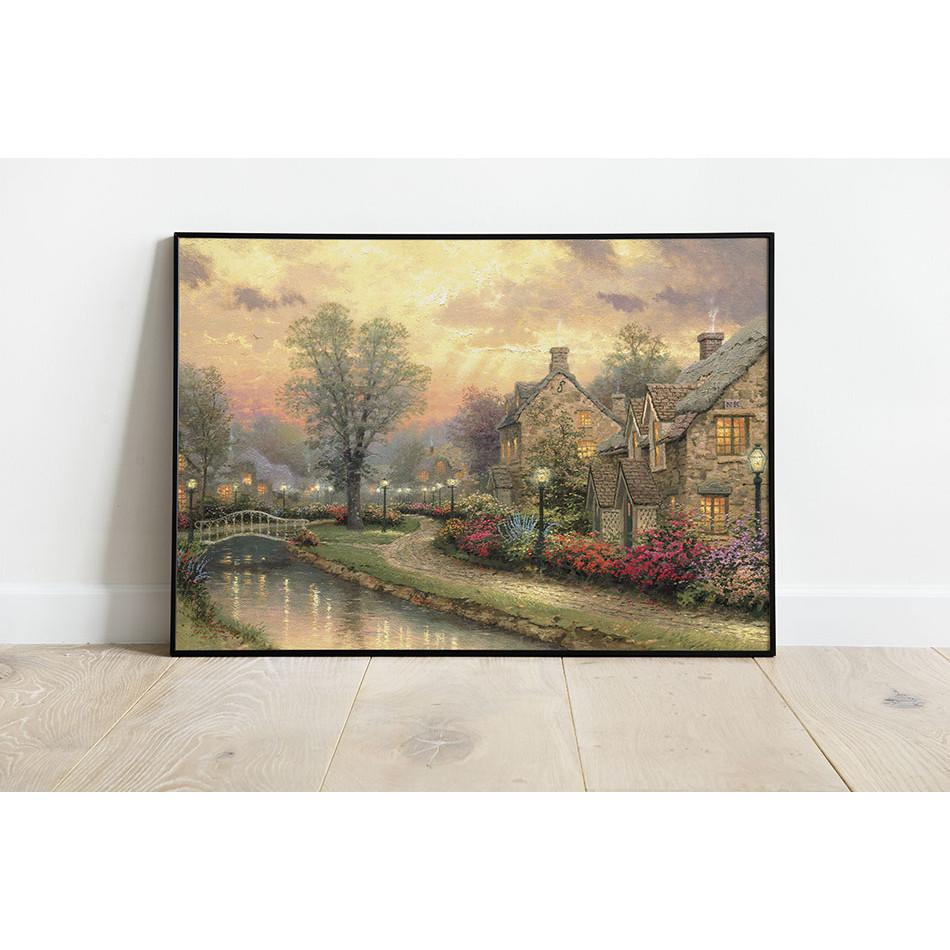 Tranh canvas trang trí tường phong cảnh Châu Âu cổ điển phong cách sơn dầu - PC002