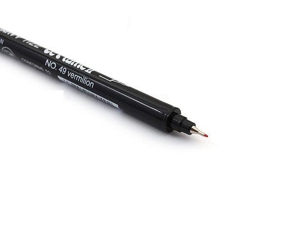 Bút lông hai đầu màu nước Marvy LePlume II 1122 - Brush/ Extra fine tip - Brown (6)