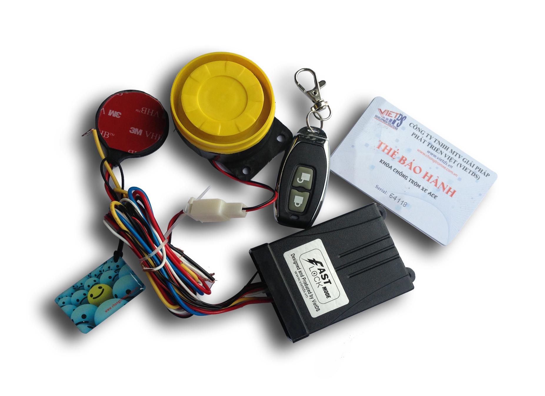 Khóa chống trộm xe máy Remote FastLock mode