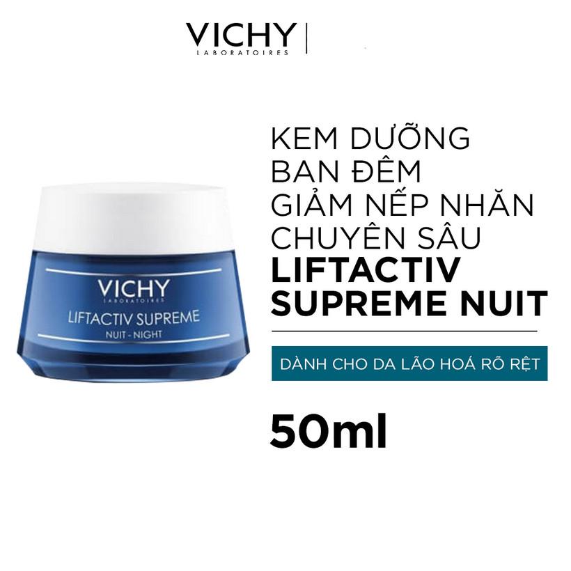 Kem Dưỡng Giúp Chống Nhăn Và Làm Săn Chắc Da Ban Đêm Vichy LiftActiv Night Cream 50ml